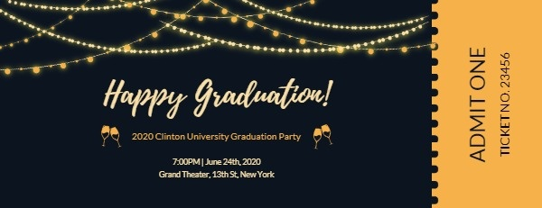 online graduation party ticket ticket template fotor design maker