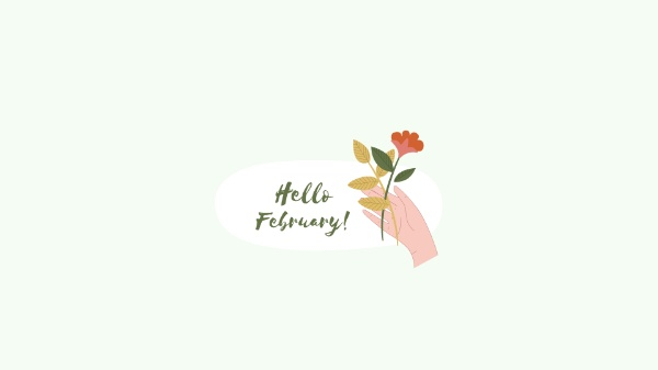 Hello February Simple