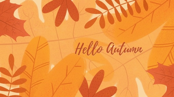 Orange Autumn Leaves Wallpaper