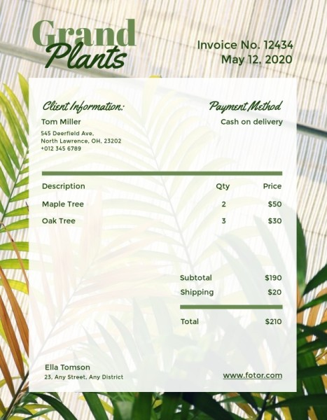 invoice14_植物_wl
