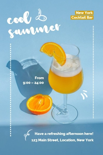 Light Blue Summer Cocktail Sale