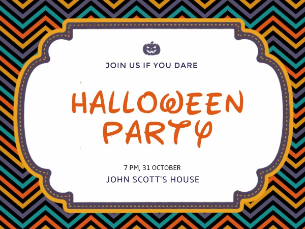 Pumpkin halloween party invitation