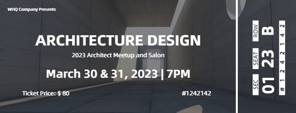 Black Architecture Design Meeting Ticket