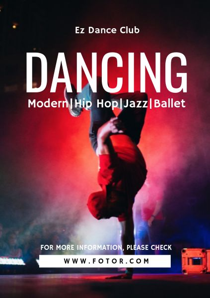 Red Dance Studio Flyer