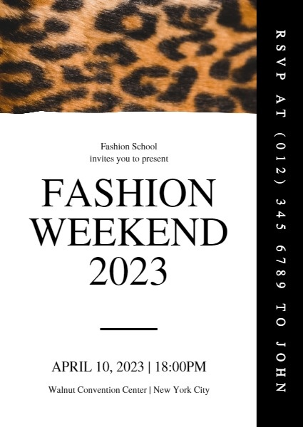 Leopard Fashion Weekend Event