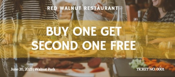 Buy One Get One Free Restaurant Coupon