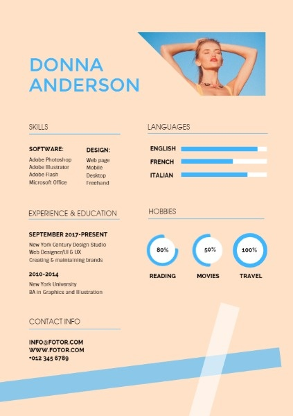 Freelancer Art Resume