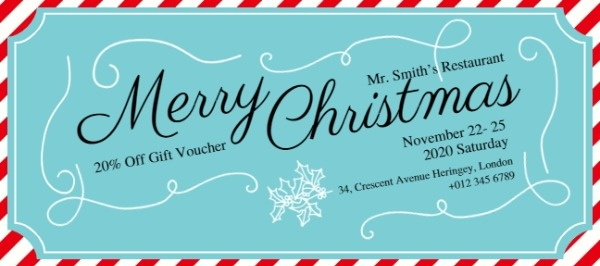 Blue Christmas Gift Voucher