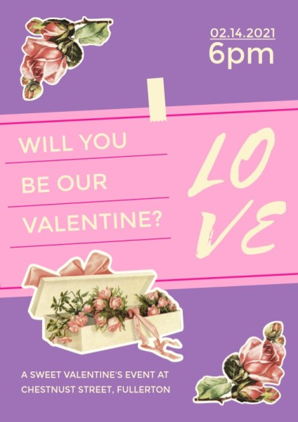 Purple Valentine's Day Singles Party