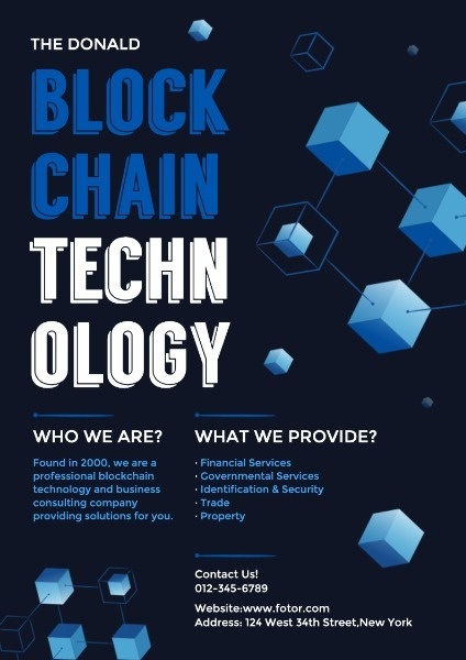 Blockchain Technology Company Poster
