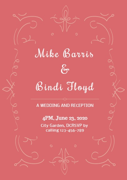 Pink wedding partyinvitation maker diy custom invitation card top reasons to use fotors pink wedding party invitation maker stopboris Gallery