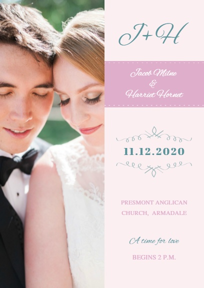 Pink Wedding Invitation CardInvitation Maker DIY Custom Invitation