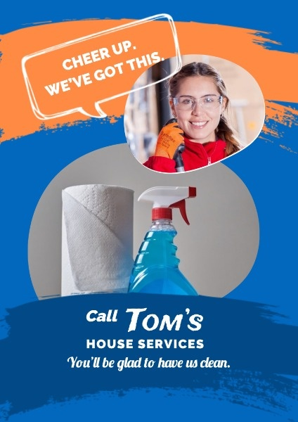 Blue Cleaning Services Flyer