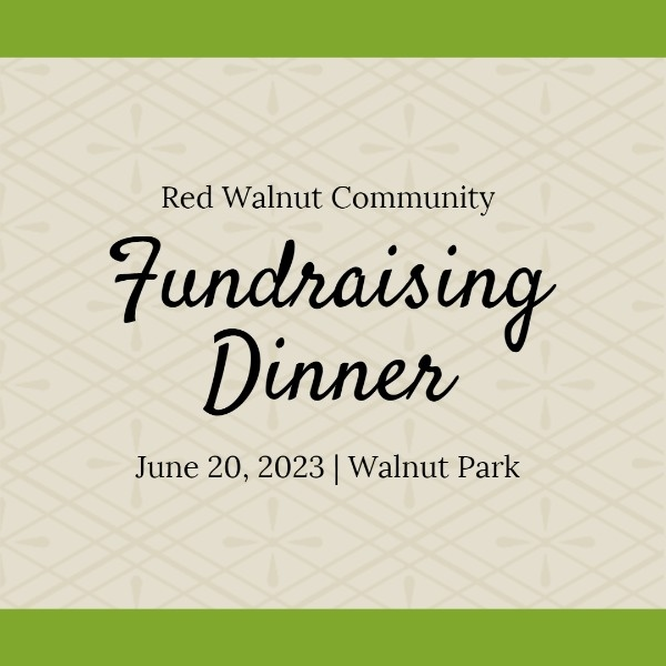 Green And Yellow Fundraising Dinner