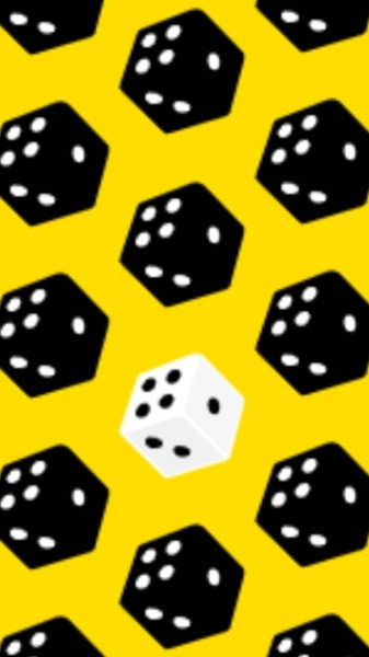 Yellow Dice Mobile Background