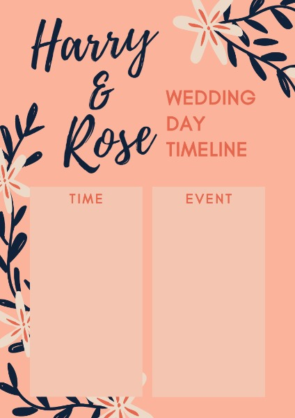 wedding timeline_wl20180318