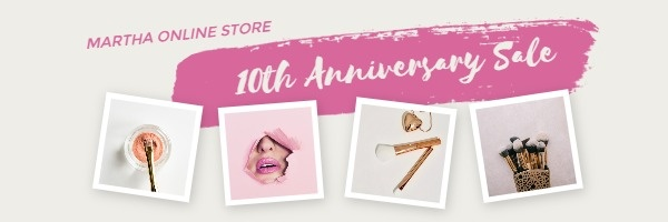 Pink Cosmetic Email Header