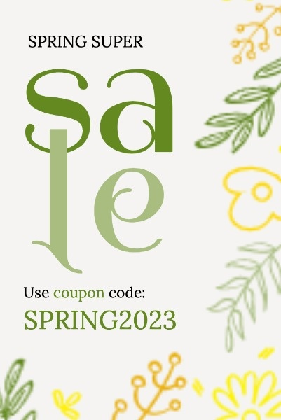 Yellow Botanical Spring Sale