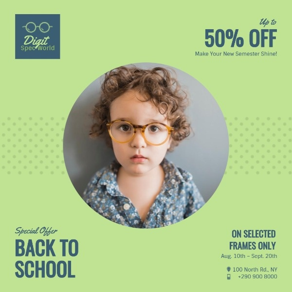 Glasses Promotion Instagram Post Template