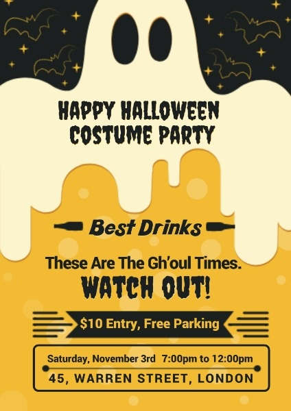 Poster Maker Design Happy Halloween Costume Party Poster Online For Free Fotor