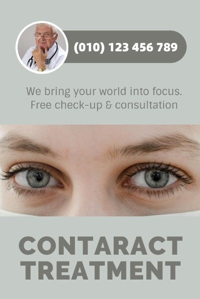 Grey Background Of Eye Hospital Ads