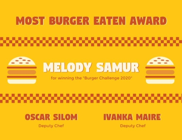Yellow Burger Competition