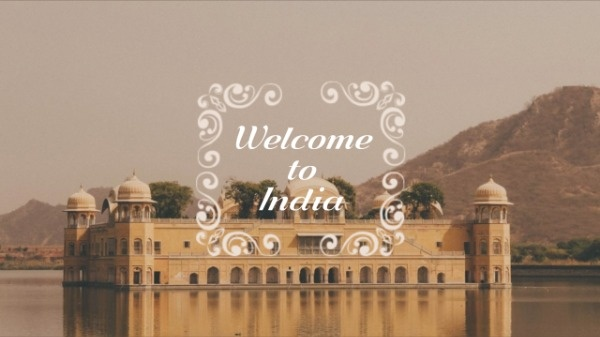 Yellow Building Travel India Youtube Channel Art