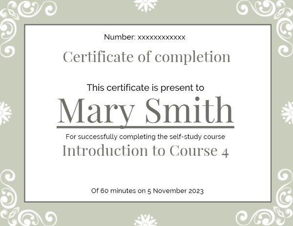 White And Grey Vintage Certificate Of Completion