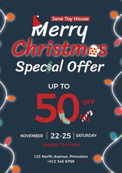 Toy House Merry Christmas Special Discount