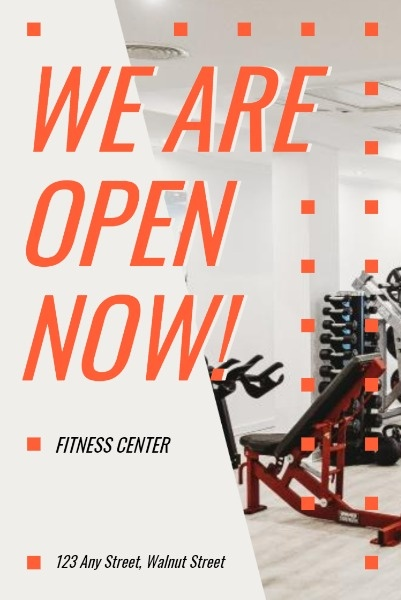Fitness Center Is Now Open