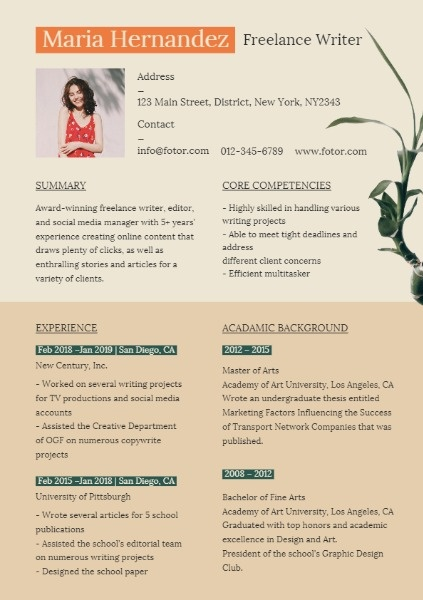 Botanical Resume