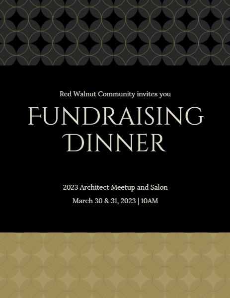 Black And Golden Fundraising Dinner