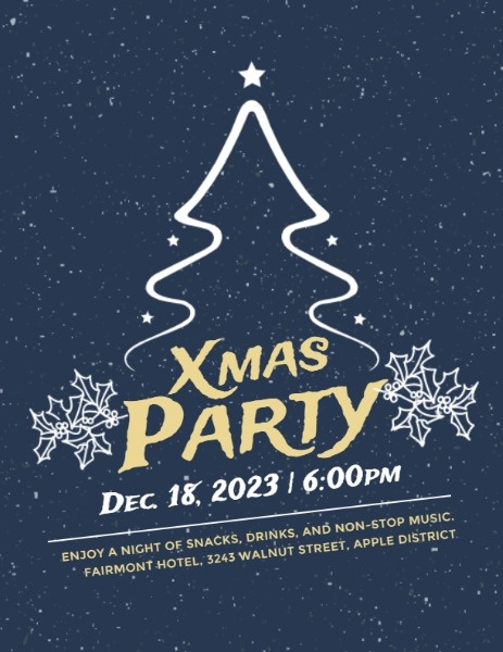 Blue Christmas Party Night
