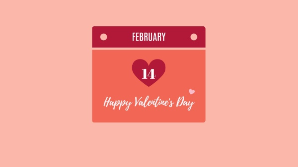 Happy Valentine's Day Pink Background