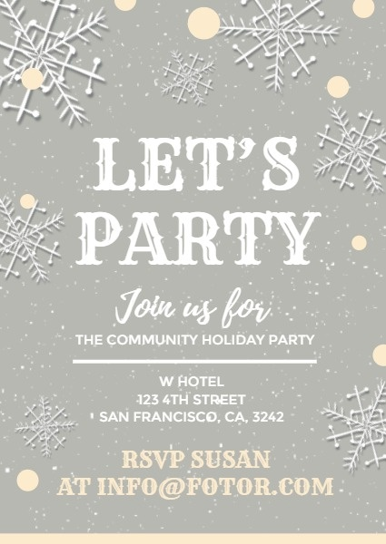 White And Grey Christmas Party