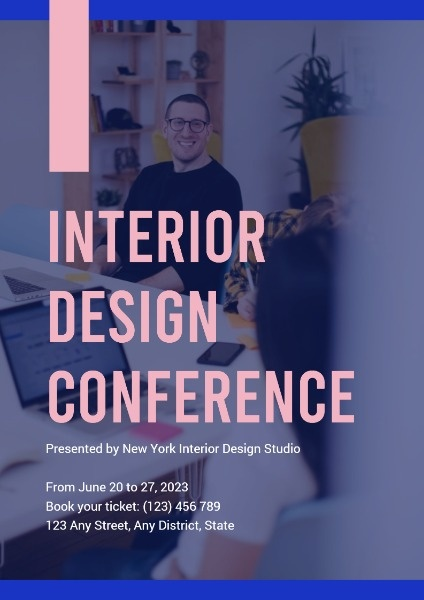 Interior Design Conference Poster Template