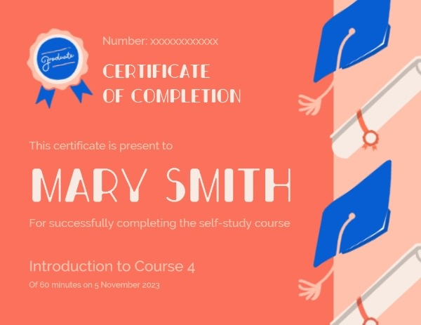 Colourful Course Certificate