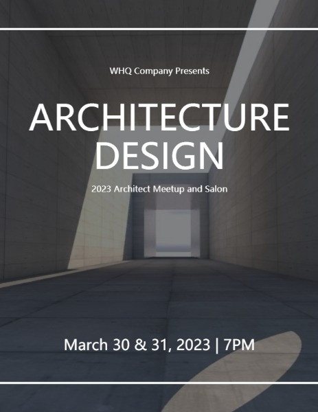Architecture Design Building Event Program