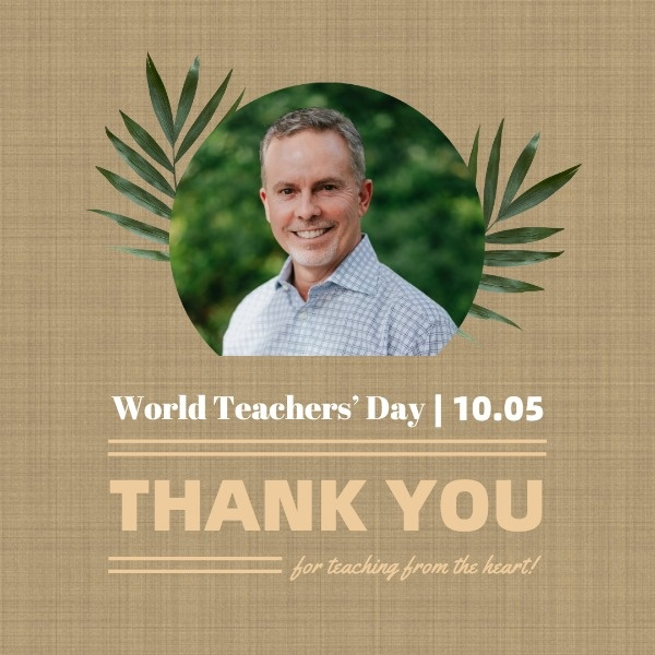 World Teacher's Day Thank You