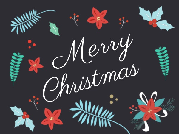 Monogrammed Christmas Greeting