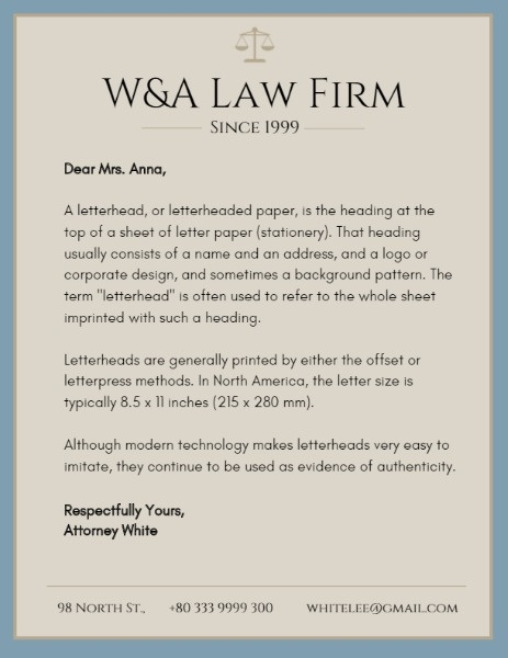online law firm letterhead template fotor design maker
