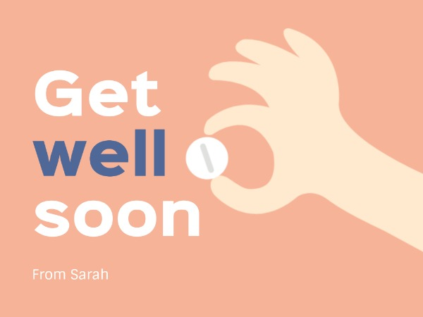 Cute Get Well Soon Illustration