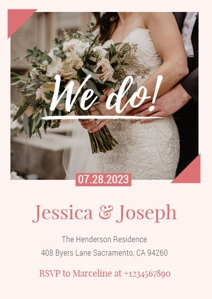 Pink Romantic Engagement Party Invitation