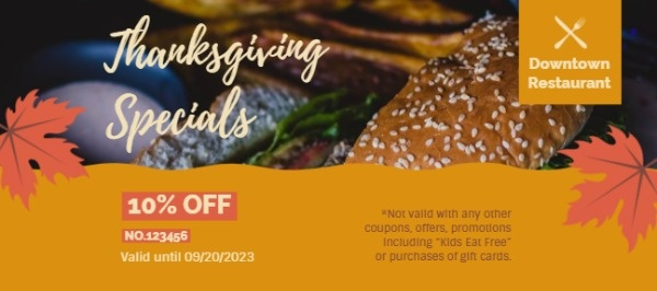 Yellow Thanksgiving Fast Food Sale