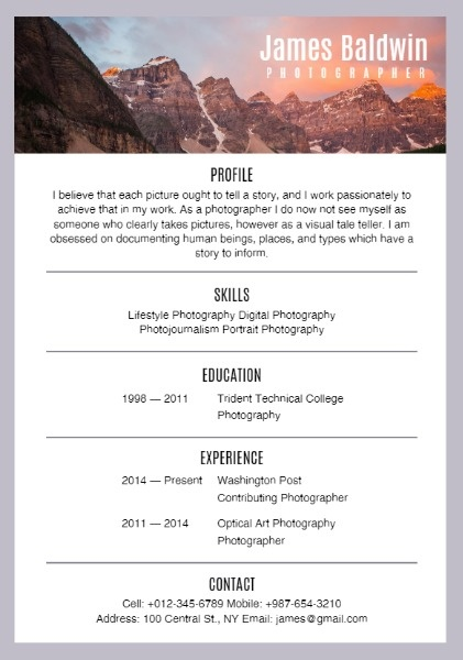 Free Online Resume Templates & Layouts | Fotor Design Maker