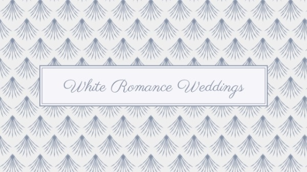 White Wedding Pattern Banner