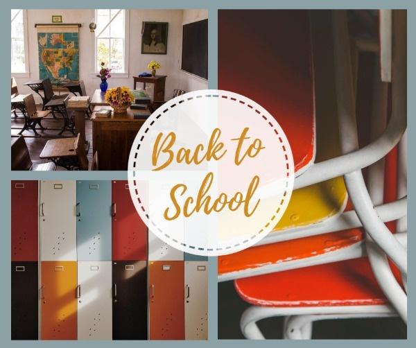 Online Back To School Collage Facebook Post Template Fotor Design