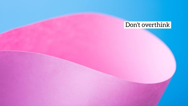 Pink Blue Paper Quote Wallpaper