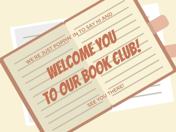Book Club Welcome Card