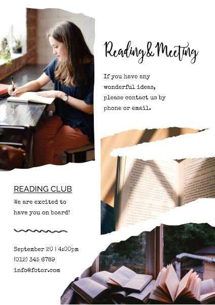 White Reading And Meeting Activity